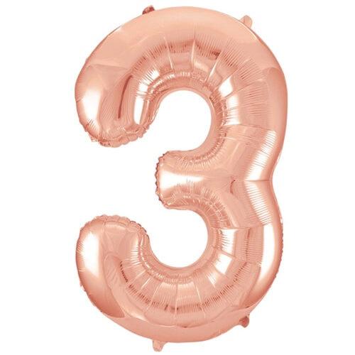 Zahlenballon Roségold