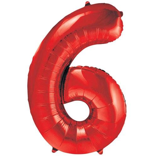 Zahlenballon Rot